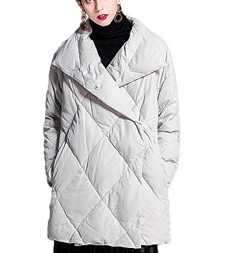 QKDSA Abrigo de Invierno para Mujer Espesar Cálido Suelto Chaqueta de Corte hacia Abajo (Color : Beige, Tamaño : L): Amazon.es: Jardín