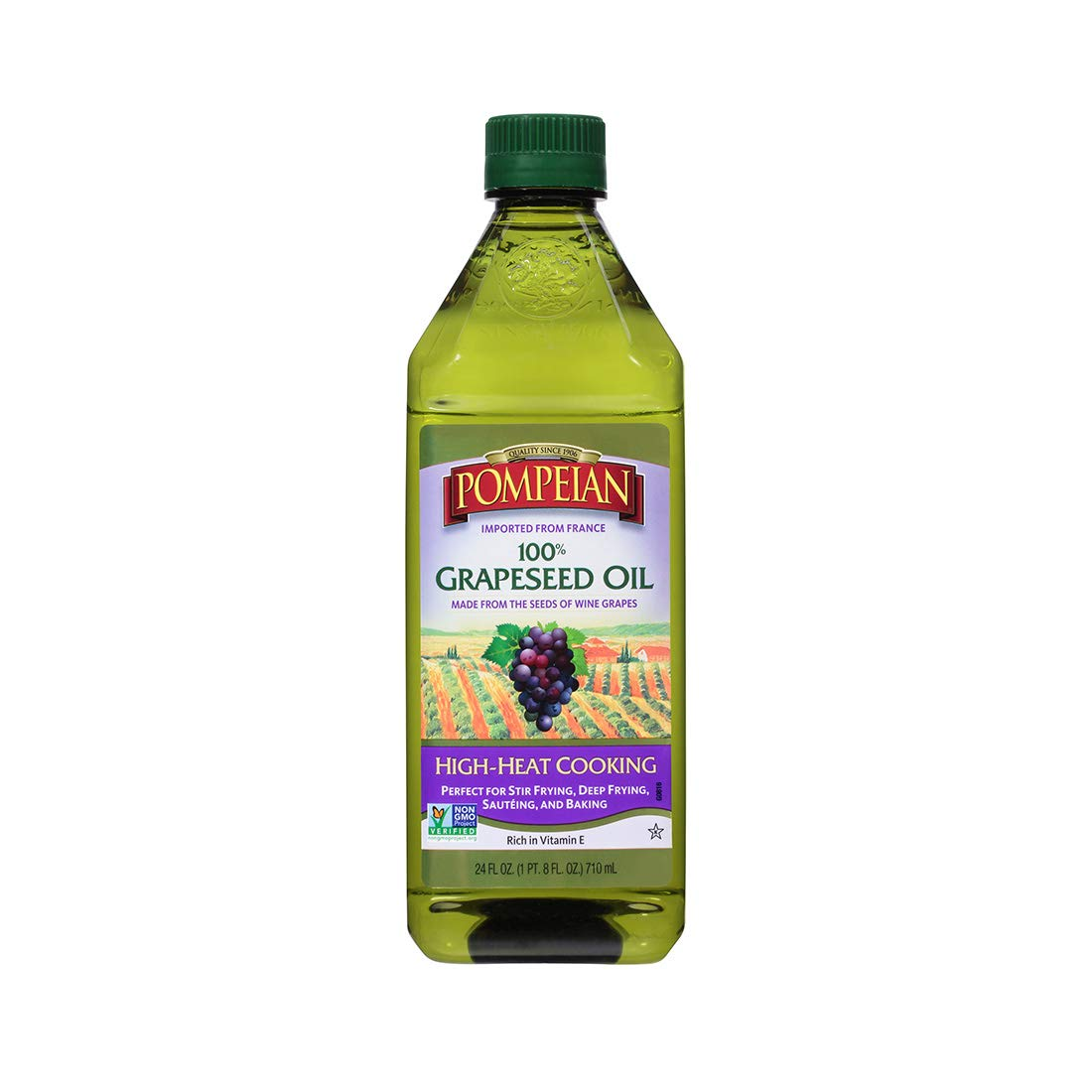 Pompeian Grapeseed Oil - 24 Ounce (Pack of 6) by Pompeian