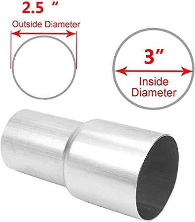 """2.5/"""" OD to 3/"""" ID Exhaust Component to Pipe Adapter Reducer Connector Universal"""