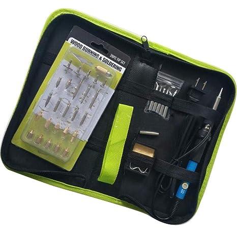 Bolsa de trabajo con kit de quemado de madera grabado a alta temperatura, kit de