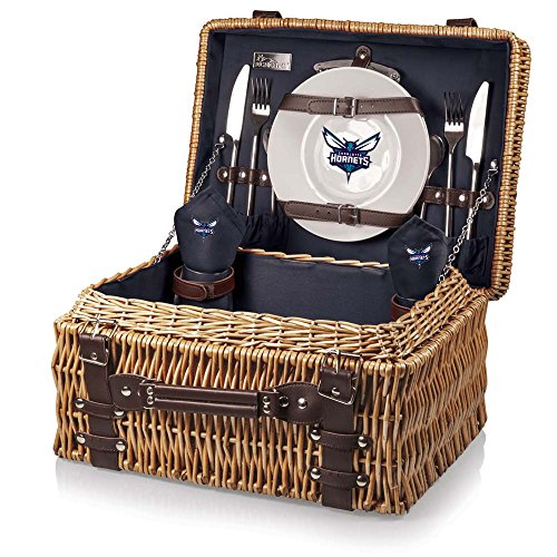 NBA Charlotte Hornets Champion Picnic Basket, One Size, Navy by PICNIC TIME