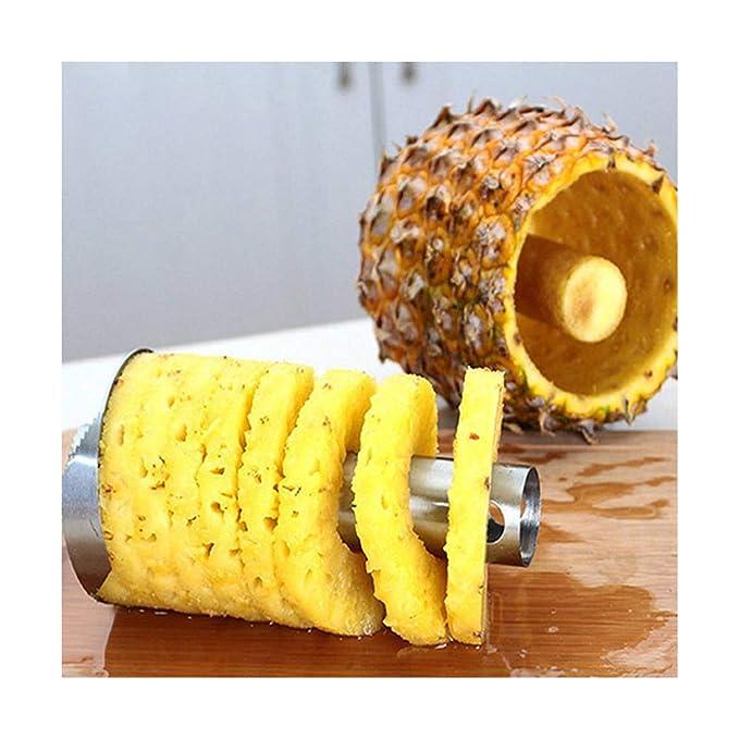 Pelador de piña de acero inoxidable cortador de frutas y ...
