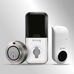Brilong Smart Lock Bluetooth Enabled+ Wi-Fi Bridge, Alexa, Google Assistant Compatible