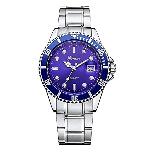 Scpink Mens Relojes de Cuarzo de liquidación de Relojes analógicos Relojes de Acero Inoxidable para Hombres