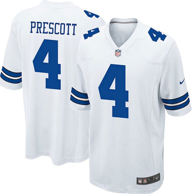 competitive price f44d8 71d9b NIKE Youth Dallas Cowboys Dak Prescott White Game Jersey ...