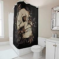 rideau de douche tête de mort 14