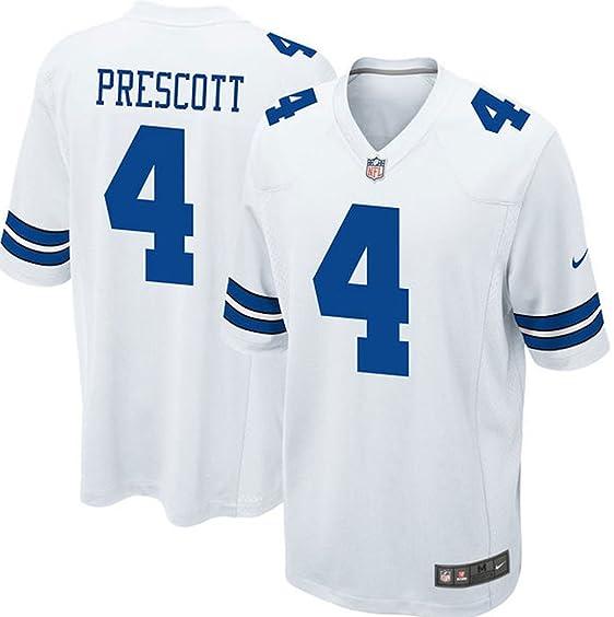 33b373a8995 ... uk nike youth dallas cowboys dak prescott white game jersey yth large  14 16 2d041 fe8ac