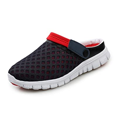 Yying Unisexe Hommes Chaussures Femmes Sabots Sandales Engrener Glisser Sur Chaussures Chaussons Antidérapant Plage en Marchant Été Allaitement Chaussures Respirant Mules Slippers 36-46