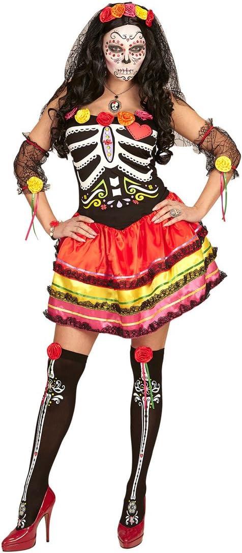Amakando Vestido La Catrina - L (ES 44/46) | Disfraz Día de los ...