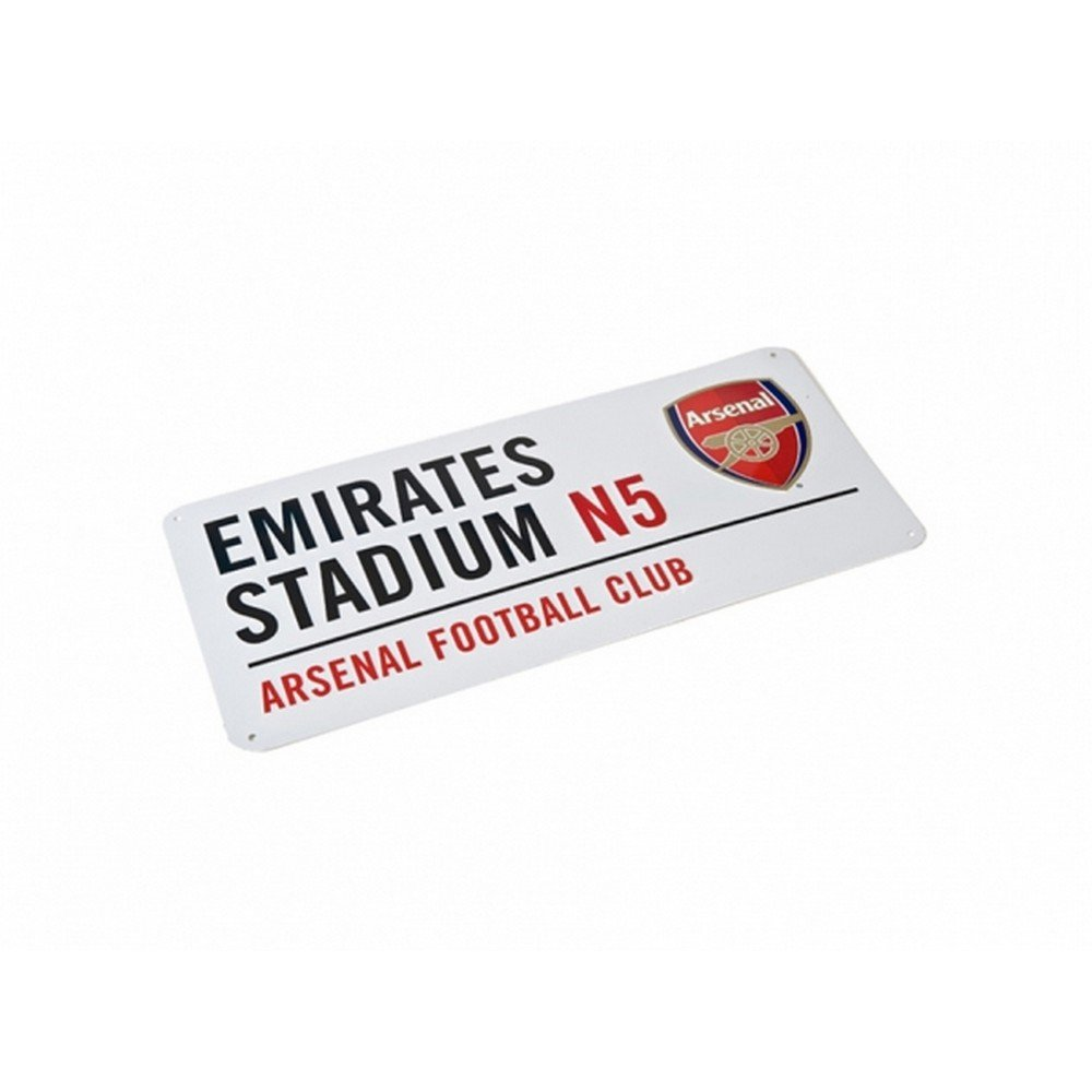Arsenal FC Authentic EPL Metal Street Sign
