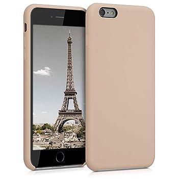 kwmobile Funda para Apple iPhone 6 Plus / 6S Plus - Carcasa de [TPU] para teléfono móvil - Cover [Trasero] en [nácar]