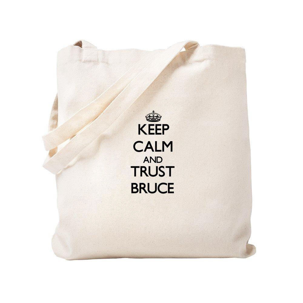 CafePress Keep Calm and Trust Bruce Sac fourre-tout kaki Toile S