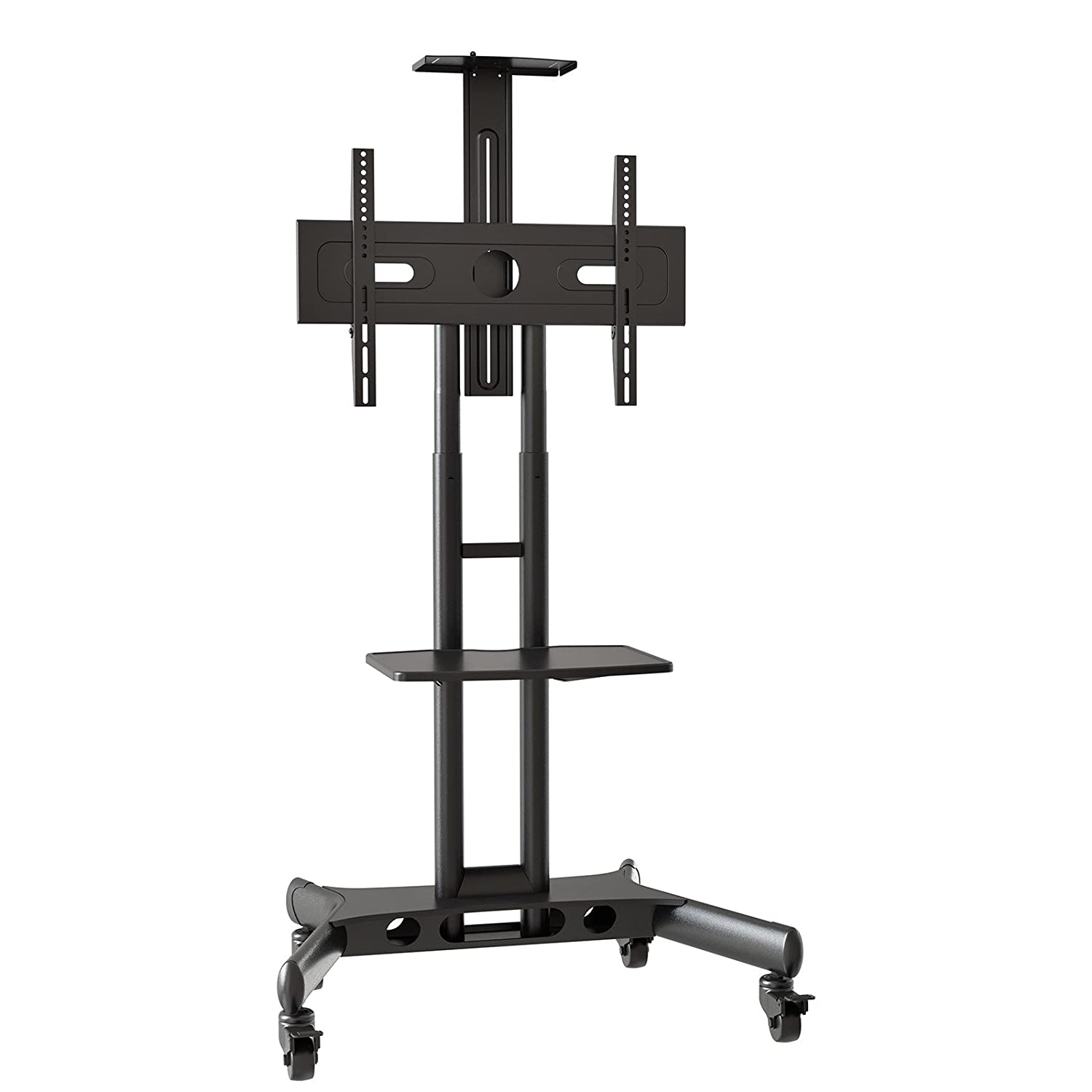 tv stand with mount 65 inch. amazon.com: mount factory rolling tv cart mobile stand for 40-65 inch flat screen, led, lcd, oled, plasma, curved tv\u0027s - universal with wheels: tv 65 t
