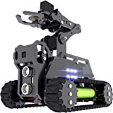 Adeept RaspTank WiFi Wireless Smart Robot Car Kit for Raspberry Pi 4 3 Model B+/B, Tank Tracked Robot with 4-DOF Robotic Arm,