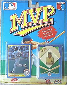 MVP Premier rookie edition pin card Jaun Gonzalez 1990