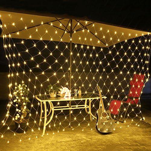 3x2m, LED-Net Mesh Fairy Lichterkette, LED-Lichterkette, LED-Lichterkette, M?rchen Lichter, M?rchen Fairy Lights, LED-Lichterkette Batterie betrieben