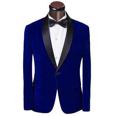 Amazoncom Elegant Redroyal Blueblack Velvet Groom Tuxedo Jacket