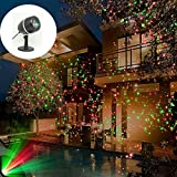 JZLiner Christmas Star Lights Projector Waterproof Red Green Landscape Spotlighting for Holiday Party