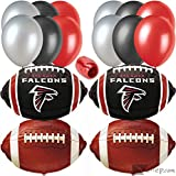 Atlanta Falcons Football Party Mylar 17pc Balloon Pack, Red Black White