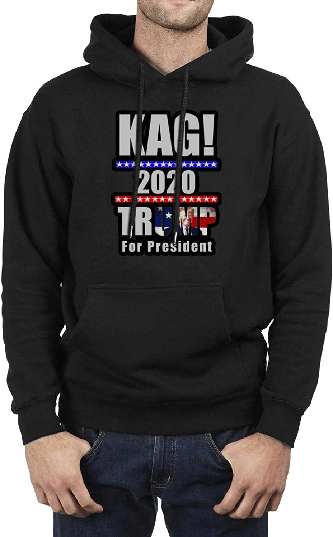 ZXJ9XJA Trump 2020 Mens Hooded Fleece Sweatshirt Fun Pocket Pullover Hoodie