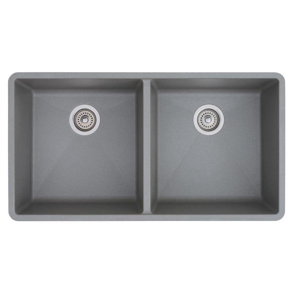 Blanco 516323 Precis 16 Inch Equal Double Bowl Sink, Cafe Brown   Silgranit  Precis Cafe Brown   Amazon.com
