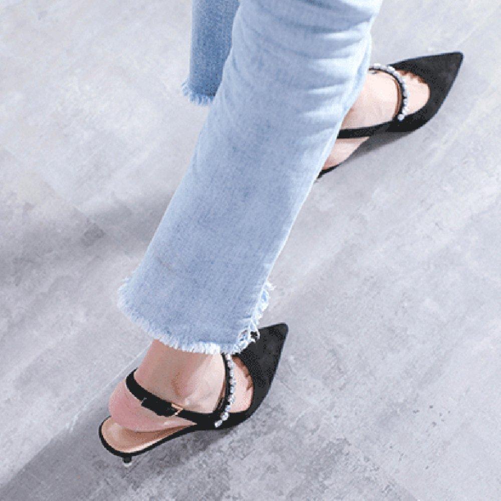 Cy Kitten Heel Strass Geschlossene Zehe Ferse Sandalen Sandalen Sandalen Sommer Lässige Damenschuhe Mode Komfort Gericht Schuhe Für Damen Arbeiten c0b067