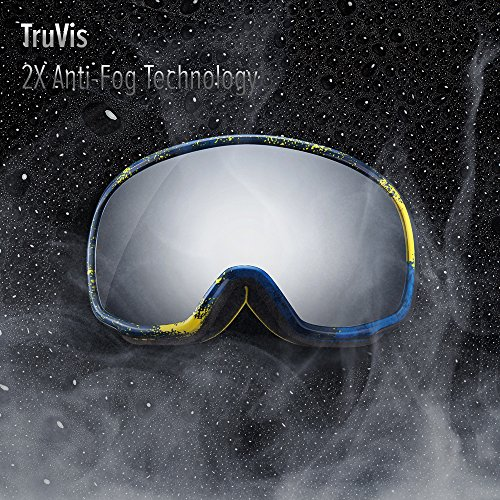 61sv2Qd mDL - OutdoorMaster Ski Goggles PRO X - Ski & Snowboard Goggles with TruVis 2X Anti-Fog Lens - for Men, Women & Youth - Helmet Compatible
