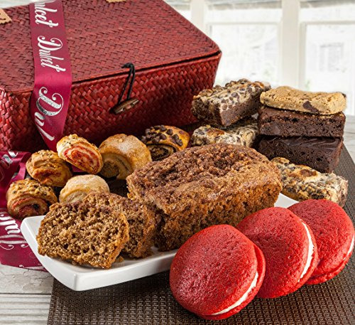 Dulcets Red Basket Cinnamon Apple Best Selling Gift Baskets (Baked Good Gift Baskets)