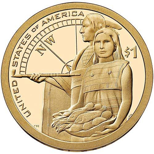 2014-D P $1 Native American Position A /& B Sacagawea Dollar 4 COINS
