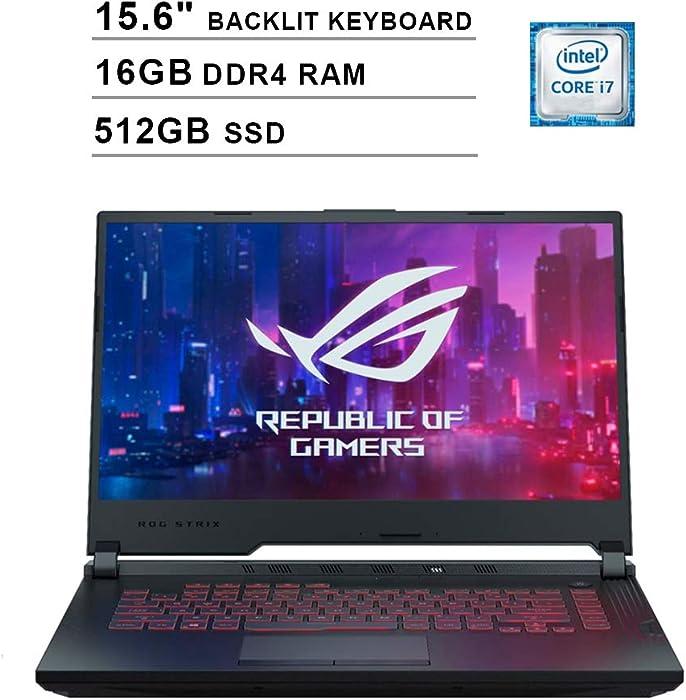 2020 Asus ROG G531GT 15.6 Inch FHD Gaming Laptop (9th Gen Intel 6-Core i7-9750H up to 4.50 GHz, 16GB DDR4 RAM, 512GB SSD, GeForce GTX 1650, RGB Backlit Keyboard, Windows 10) (Black)
