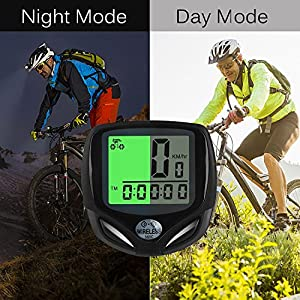 V-Best Wireless Bike Computer, Wireless Bicycle Speedometer/Cycling Odometer with Waterproof Digital LCD Multi-Functions