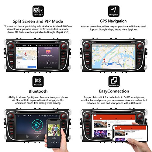 eonon android 8 indash car digital audio video stereo 7
