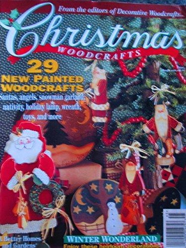 {Christmas Crafts} Christmas Woodcrafts 1994: 29 New Painted Woodcrafts-Santas-Angels-Snowman Garland-Nativity-Holiday Lamp-Wreath-Toys-and More {From Decorative Woodcrafts Magazine}