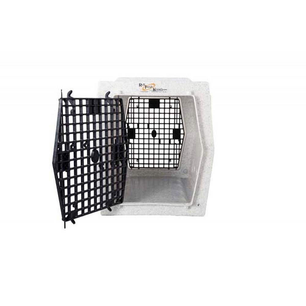 Ruff Tough Kennels Intermediate Double Door Kennel, Crate, Dog House, (L-32'', W-20'', H-22 1/2'') (White)