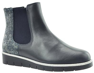 JJ Footwear Damen Stiefeletten Leder Bicester Normal Ozean Nappa/Amadeus 40