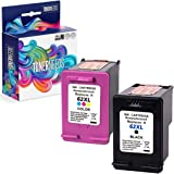 TONERNEEDS Remanufactured HP Ink 62 – Remanufactured Ink Cartridge Replacement for HP 62 HP 62XL 62 XL – Black Tri-Color Comb