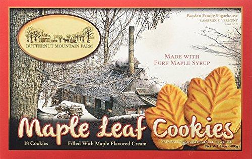 Butternut Mountain Farm Maple Leaf Cookies (Pack - Sandwich Cookie Maple