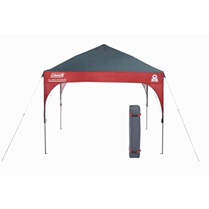 half off 32265 cc074 Coleman Canopy Shelter with All-Night LED Lighting | Sun Shelter Tent with  Instant Setup, 9 x 9 Feet