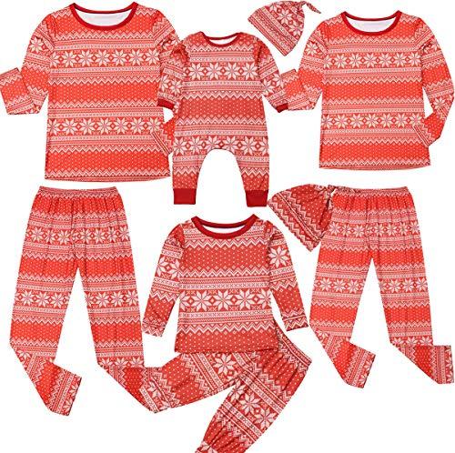 XBRECO Pajamas navideños para Familia PJS, para Adultos y niños, Manga Larga, diseño Floral, Papá, Medium