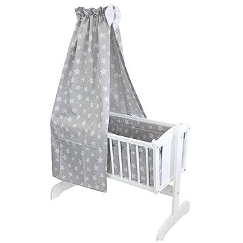Tuptam Unisex Baby Wiegen Bettwäsche Set 6 Tlg Farbe Tupfen Sterne