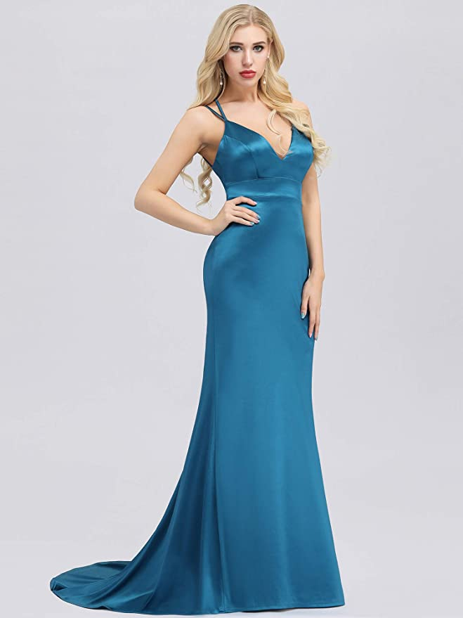 Ever-Pretty A Line Backless Sleeveless Floor Length Evening Party Dresses 07895