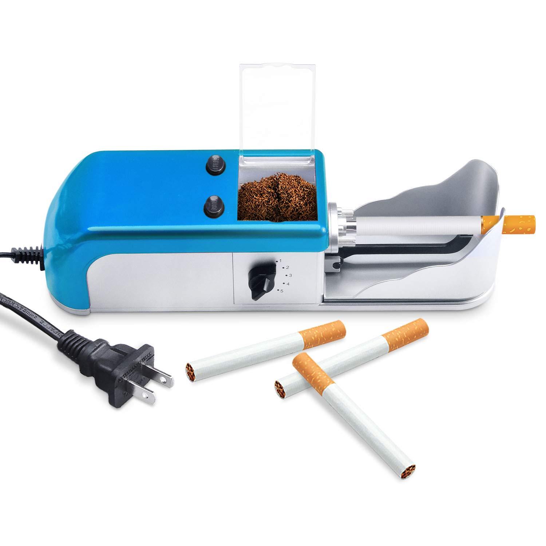 Electric Cigarette Rolling Machine Cigarette Injector Machines Automatic Tobacco Roller Maker Mini Cigarette Injector Machine (Blue) by Suteck