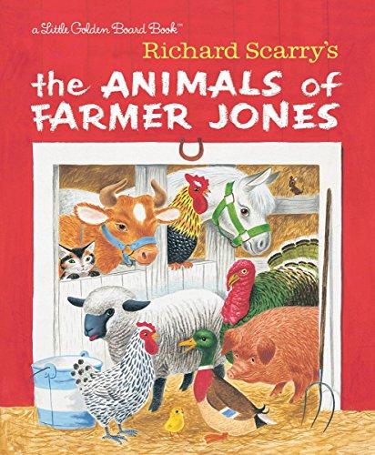 (Richard Scarry's The Animals of Farmer Jones (Little Golden Board)