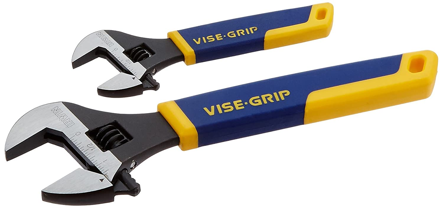 IRWIN VISE-GRIP Tools Adjustable Wrench Set, 2-Piece (6 Inch and 10 Inch) (2078700)