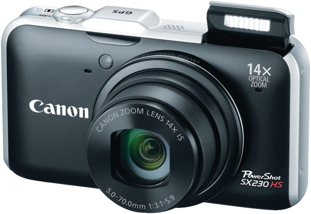 OLD MODEL Canon PowerShot SX230 HS 12.1 MP CMOS Digital Camera with 14x Image Stabilized Zoom 28mm Wide-Angle Lens and 1080p Full-HD Video Black