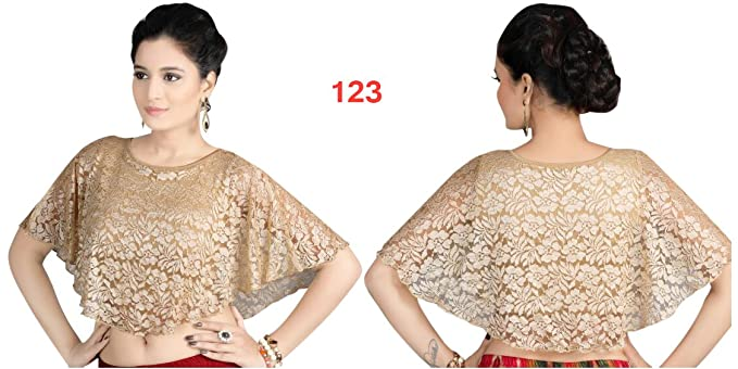 Listo para usar indio blusa étnica diseñador Crope Top mujeres Choli indio Lycra sari extensible Wear