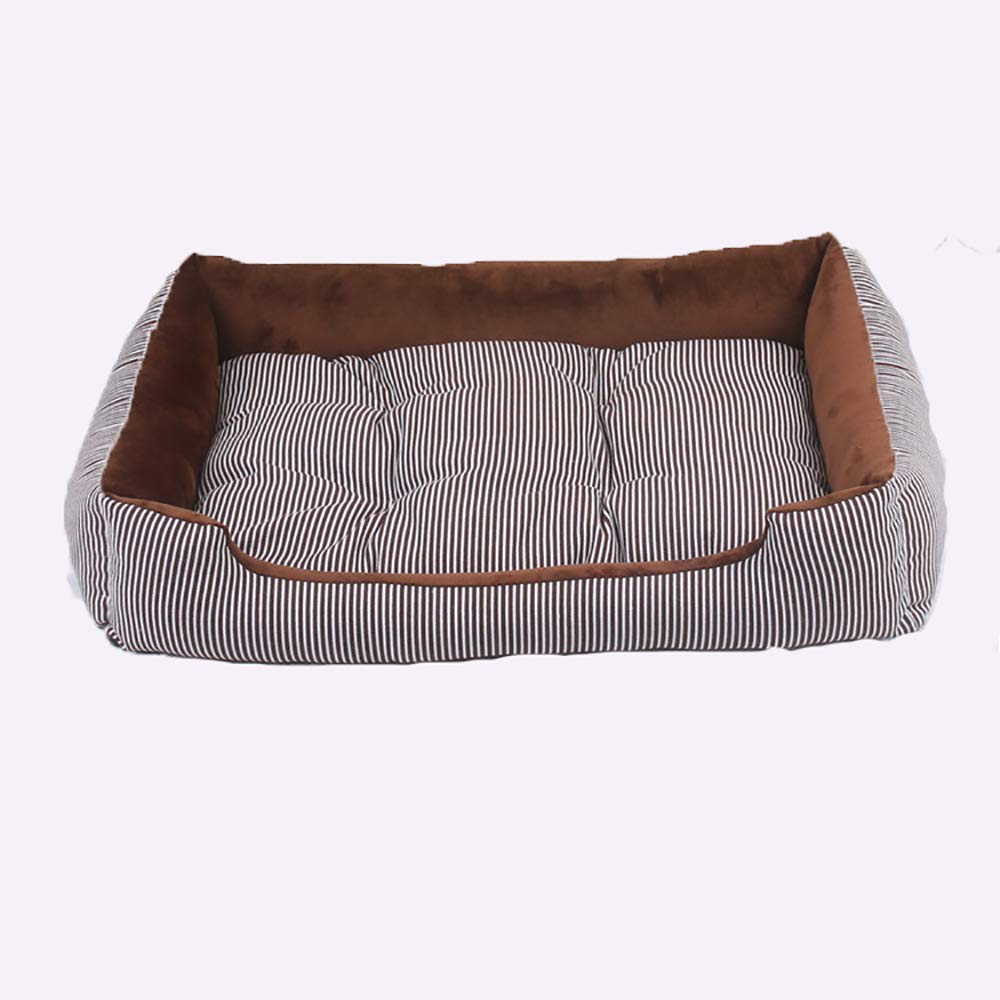 50x38x15cm Pet Mats, Pet Nest for Small and Medium Dogs, Comfortable and Soft Washable Kennel, Brown (Size   50x38x15cm)