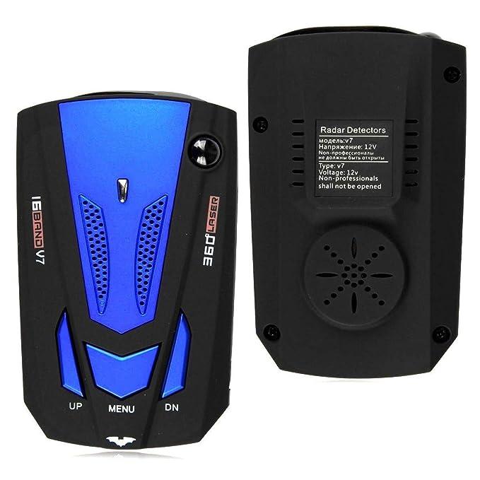 Auto Radar Velocidad Cuchillo Lazer 360 ° Voice Alert Velocidad móvil Velocímetro electrónico Perro,Detector de cámara de velocidad, sistema de alarma ...