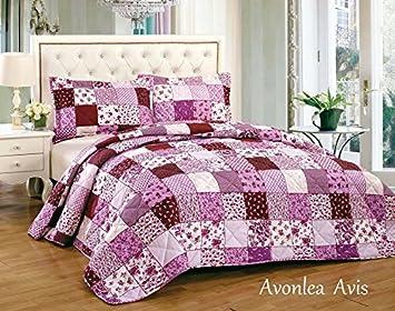 lujo vintage floral patchwork cama algodn pcs colcha comodidad ropa de cama sets