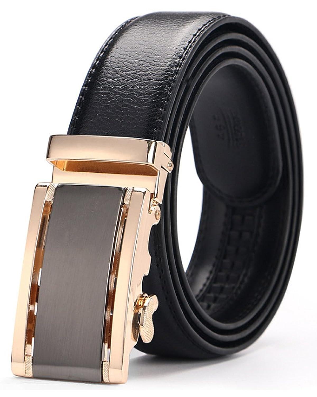 3ZHIYI Cinturón cuero de la correa de trinquete hebilla automática de los  hombres ... 8ada1a2dea0